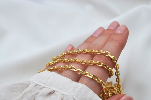 ANCHOR BRACELET SMALL | Sterling Silber Gold plattiert