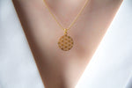 FLOWER OF LIFE | Sterling Silber 18 Karat vergoldet