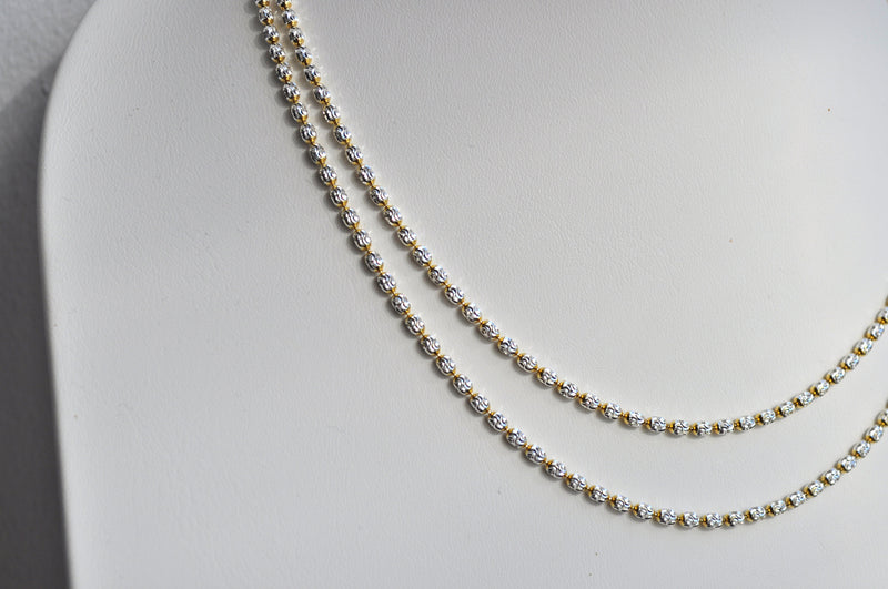GLITTER CHAIN | Sterling Silber bicolor