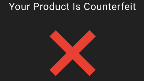 Counterfeit puff bar verification result on official website
