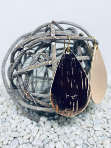 Large Cork Rose Gold Metallic Teardrop