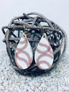 Small Baseball Leather Teardrop