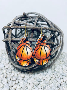 Small Basketball Leather Teardrop