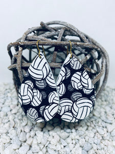 Large Volleyball Leather Teardrop