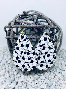 Large Soccer Leather Teardrop