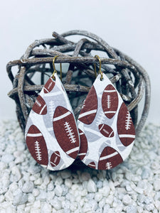 Large Football Leather Teardrop