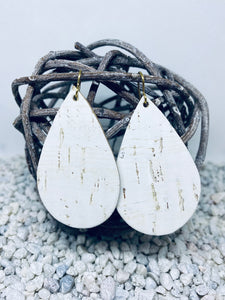 Large Cork White Teardrop