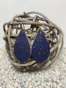 Small Cork Navy Teardrop