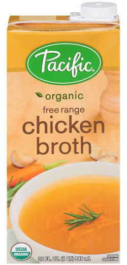 Chicken Broth 32oz Organic Free Range Pacific