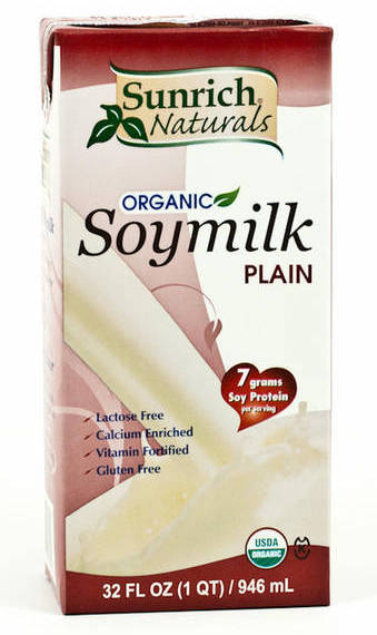 Soy Milk 32oz Organic Unsweetened Sunrich Naturals