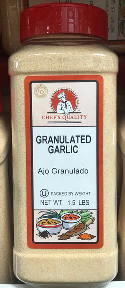 Chef's Quality Granulated Garlic 1.5lb