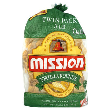 Mission Tortilla Rounds Restaurant Style Twin Pack 3lb