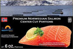 Premium Norwegian Salmon Skinless 6oz/10lb