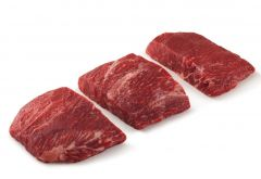 Steak 10/ 8oz Flat Iron Steak Angus Choice Individually Wrapped Frozen