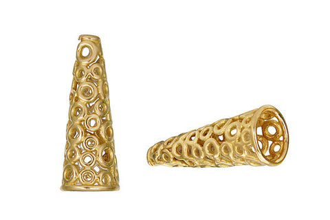 Brass Circle Lattice Cone, 24.0x9.0mm