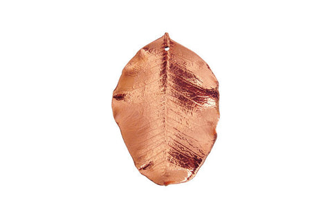 Copper Carob Leaf Pendant, 20.0-30.0mm