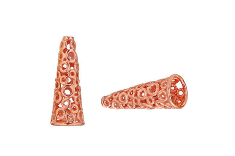Copper Circle Lattice Cone, 19.0x4.0mm