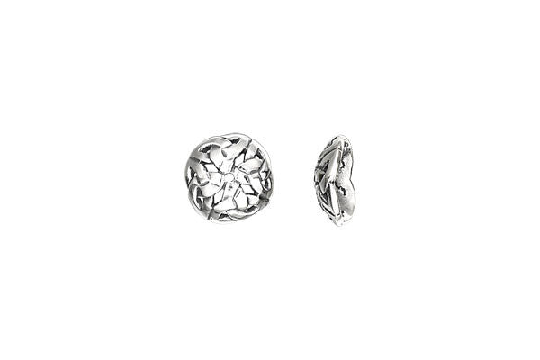 Sterling Silver Celtic Knot Bead Cap, 10.0mm