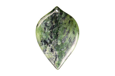 Pendant Green Zebra Heart Leaf