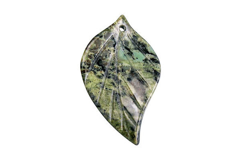 Pendant Green Zebra Twisted Leaf
