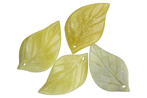 "Pendant Olive ""Jade"" (Light) Twisted Leaf"