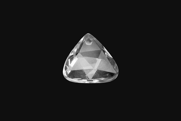 Pendant Rock Crystal (A) Faceted Triangle