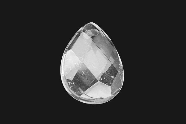 Pendant Rock Crystal (B) Faceted Flat Briolette