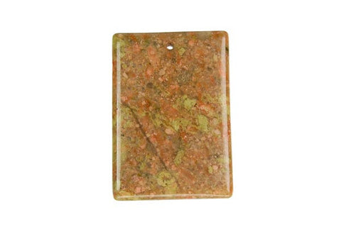 Pendant Unakite Flat Rectangle