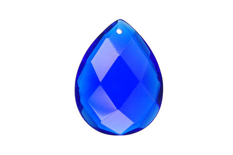 Pendant Royal Blue Quartz Faceted Flat Briolette