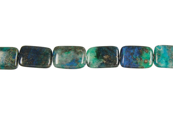 Azurite Flat Rectangle Beads