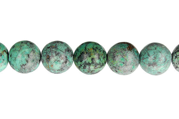 African Turquoise (Dark) Round Beads