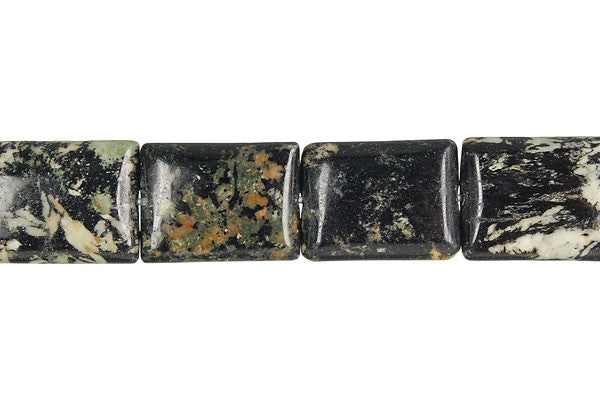 Fireworks Jasper Flat Rectangle Beads