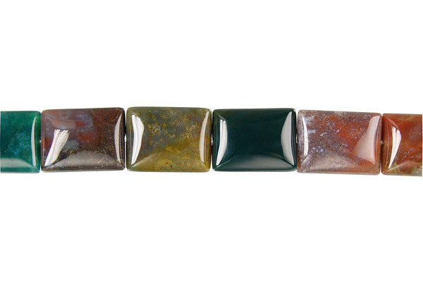 Fancy Jasper Flat Rectangle Beads