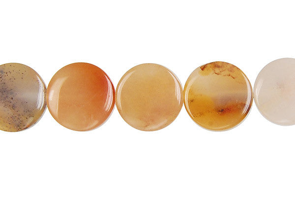 Oregon Picture Jasper Coin Beads