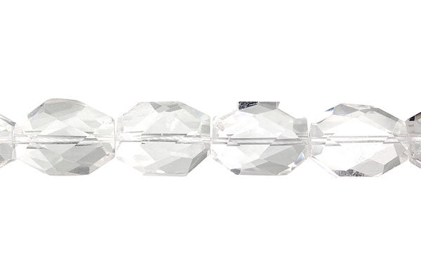 Rock Crystal Super Faceted Nugget (B) Beads