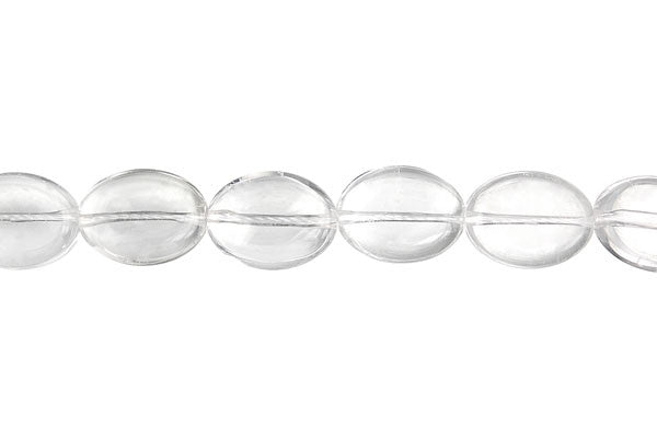 Rock Crystal Flat Oval (B) Beads