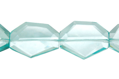 Aqua Quartz Faceted Slab