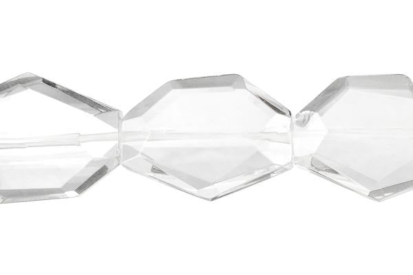 Clear Quartz Faceted Slab