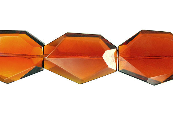 Amber Quartz Faceted Slab