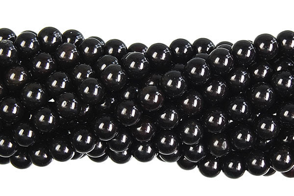 Coral (Black) Round Beads