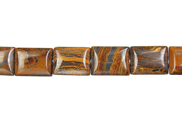 Tiger Iron (AAA) Flat Rectangle Beads