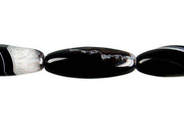 Black Onyx Rice (Crystal) Beads