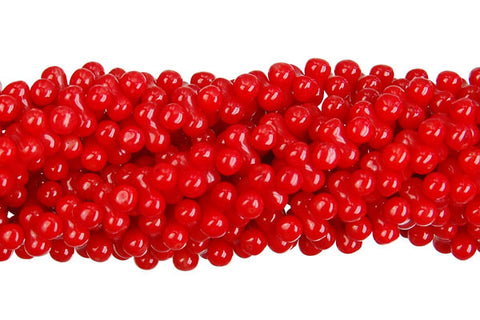 Coral (Red) Peanut Beads
