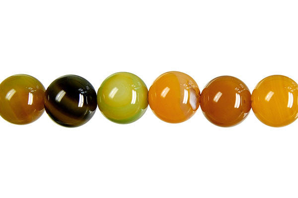 Agate (Yellow) Round Beads