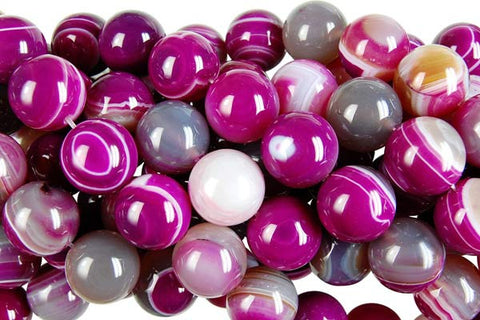 Agate (Violet) Round Beads