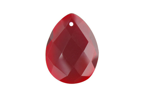 Pendant Ruby Quartz Faceted Flat Briolette