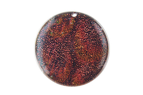 Pendant Dichroic Glass Coin (VR-07)