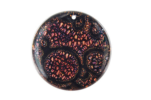 Pendant Dichroic Glass Coin (VR-12)