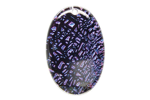 Pendant Dichroic Glass Flat Oval (VR-20)