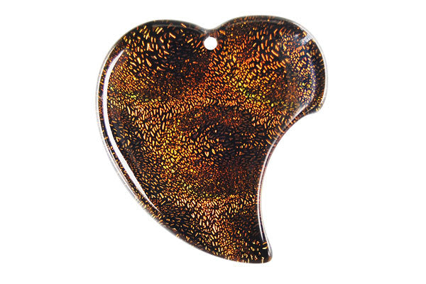 Pendant Dichroic Glass Heart (VR-07)